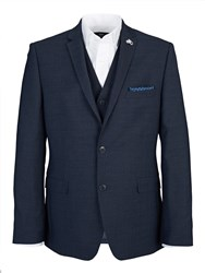 Lambretta Slim Shadow Check Three Piece Suit Grey
