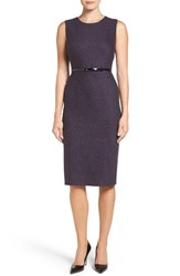 Emerson Rose Women's Belted Tweed Sheath Dress