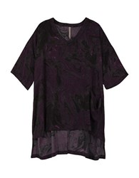 Melissa Mccarthy Seven7 Plus V Neck Hi Lo Tee Purple Potion