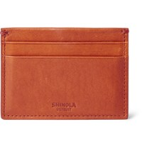 Shinola Leather Cardholder Orange