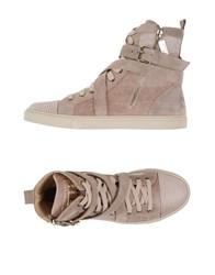 Elisabetta Franchi Footwear High Tops And Trainers Women Sand