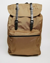Backpack In Green With Buckle Straps