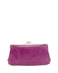 Hobo Millie Leather Kiss Lock Wallet Violet