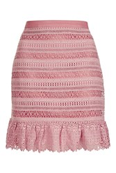 Glamorous Lace Trim Skirt By Pink