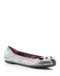 Marc By Marc Jacobs Sacchetto Metallic Mouse Ballet Flats Dark Silver