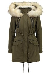 Miss Selfridge Luxe Parka Dark Green