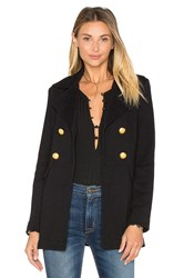 525 America Double Breast Peacoat Black