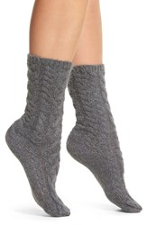 Lemon Women's Fluff Cable Crew Socks Peppercorn