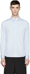 Givenchy Blue Silver Star Collar Shirt