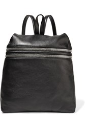 Kara Textured Leather Backpack Black