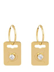 Maria Francesca Pepe The Bling Ring' Tag Earrings Gold