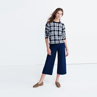 Madewell Plaid Button Back Sweater Nightvision