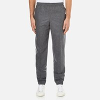 Carven Men's Elastic Waist Trousers Gris Chine
