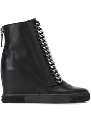 Casadei Chain Detail Wedge 'Sneakers' Black