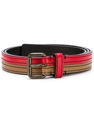 Tomas Maier Bicolour Belt Red