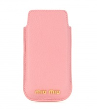 Leather Iphone 5 Case Pink