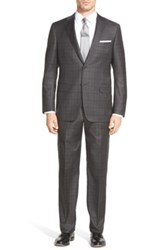 Hickey Freeman 'Beacon' Classic Fit Plaid Wool Suit Gray