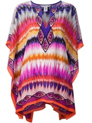 Trina Turk Embroidered Kaftan Pink And Purple