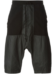 Lost And Found Paneled Track Shorts Grey