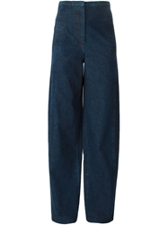 Lemaire High Waist Wide Jeans Blue