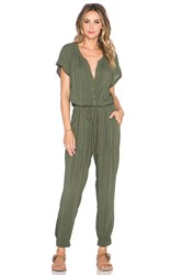 Velvet By Graham And Spencer Cassia Rayon Challis Jumpsuit Green