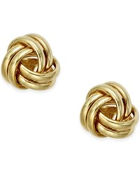 Macy's Small Love Knot Stud Earrings In 10K Gold