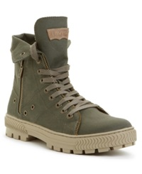 Levi's Canvas Sahara Hi Top Boots Men's Shoes Army