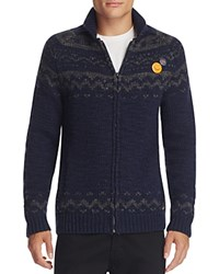 Scotch And Soda Fair Isle Zip Cardigan Sweater Combo