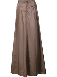 Veronique Branquinho Long A Line Skirt Nude Neutrals