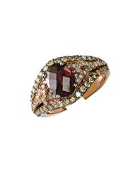 Le Vian 14K Strawberry Gold Rhodolite And Diamond Ring Red