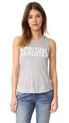 Spiritual Gangster Sg Varsity Muscle Tank Heather Grey