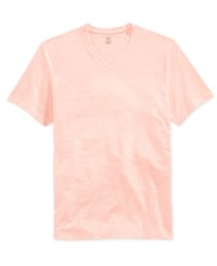 Inc International Concepts Contrast Stitch V Neck T Shirt Only At Macy's Peach Melba