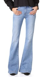 Derek Lam Noha Mid Rise Sexy Flare Jeans Light Wash