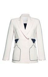 Parden's Medaber Double Breasted Blazer White