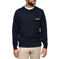 L'estrange Navy Cross Collar Sweatshirt Blue