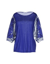Zuhair Murad Topwear T Shirts Women Bright Blue