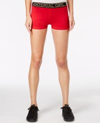 Material Girl Active Juniors' Pull On Shorts Only At Macy's Hot Chilli