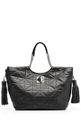 Sonia Rykiel Quilted Leather Tote Black