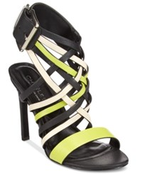 Charles By Charles David Isabel Strappy Dress Sandals Women's Shoes Green Black White