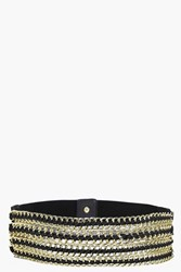 Boohoo Chain Detail Waist Belt Black
