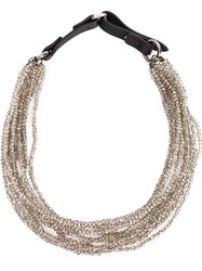 Brunello Cucinelli Multi Strand Bead Necklace Black