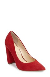 Jessica Simpson Women's Tanysha Pointy Toe Pump Lipstick Suede