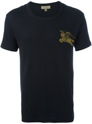 Burberry Embroidered Logo T Shirt Black
