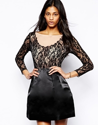 Arrogant Cat Prom Dress With Mesh Lace Bodice Black