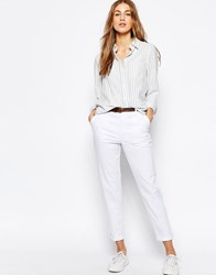 Asos Chino Trousers With Belt White