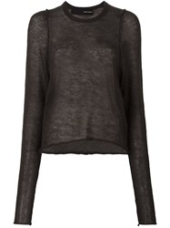 Isabel Benenato Fine Knit Jumper Green