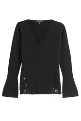 Etro Wool Cashmere Blend Pullover Black