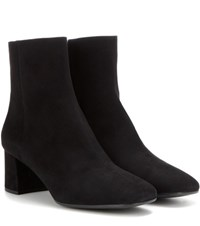 Prada Suede Ankle Boots Black
