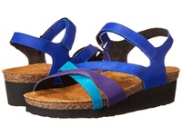 Naot Footwear Sophia Royal Blue Leather Purple Leather Aquamarine Leather Women's Sandals