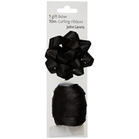 John Lewis Gift Bow And Curling Ribbon Set Black